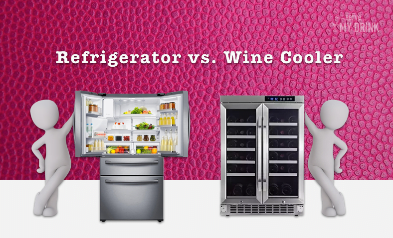 Refrigerator vs. Wine Cooler