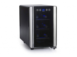 Wine Enthusiast 272 03 07 Silent 6-Bottle Touchscreen Wine Cooler in Black
